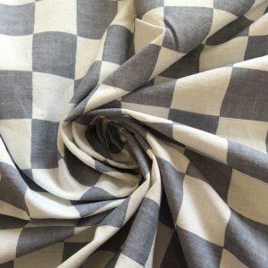 Tissu coton carrés