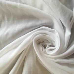 Tissu voile de coton – blanc cassé