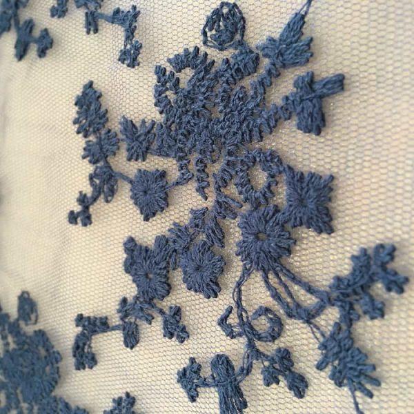 Tissu dentelle fleurs