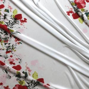 Tissu mousseline – coquelicots