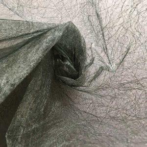 Tissu non tissé – vert / argent