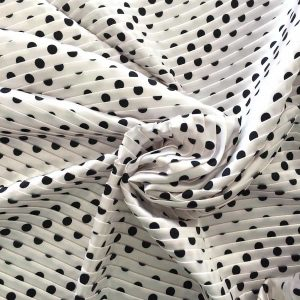 Tissu polyester plissé extensible