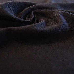 Tissu jersey en coton, noir. Coupon