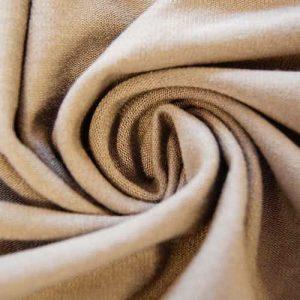 Tissu jersey en coton, gris. Coupon