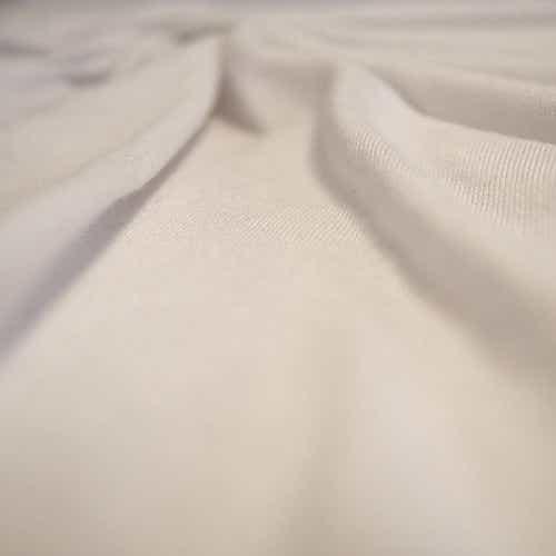 Tissu jersey en coton, blanc. Coupon