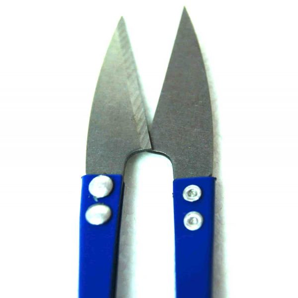 Ciseaux coupe-fils en metal, bleu