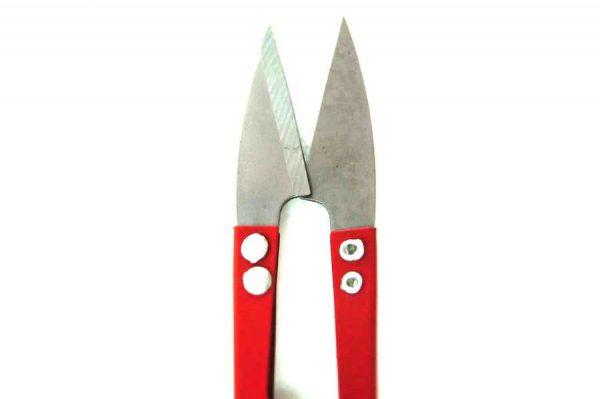 Ciseaux coupe-fils en metal, rouge