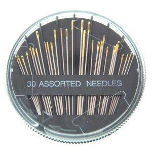 Aiguilles à coudre, 0,7 - 1,1 mm, longueur 31 - 51 mm, 30 pièces