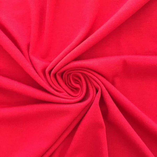 Tissu jersey en coton, rouge. Coupon