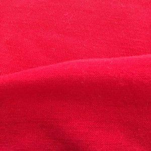 Tissu jersey en coton, rouge. Coupon 150X53 cm