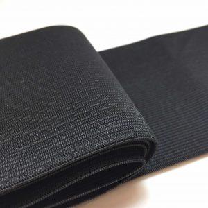 Ruban élastique 10 cm largeur, noir