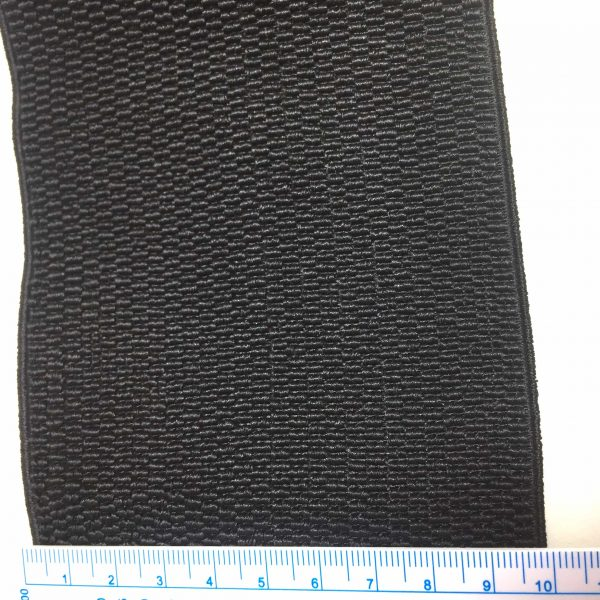 Ruban élastique alvéolaire 10 cm largeur, noir