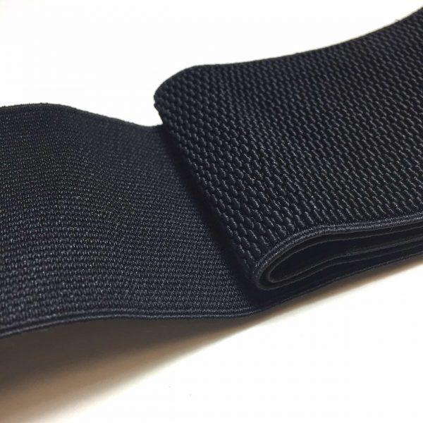 Ruban élastique alvéolaire 7,5 cm largeur, noir
