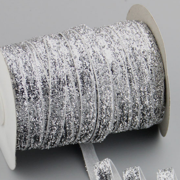 Ruban de paillettes métalliques scintillantes