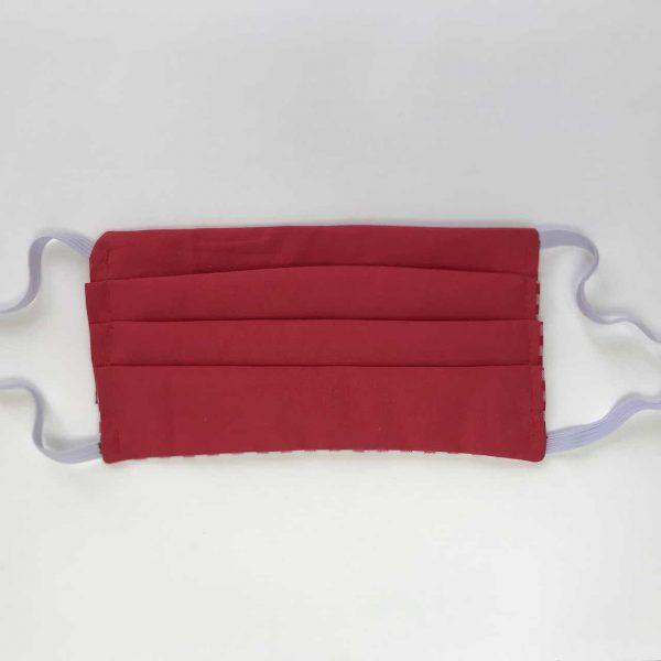 masque mask protection afnor plis 3 couches carreaux blanc rouge