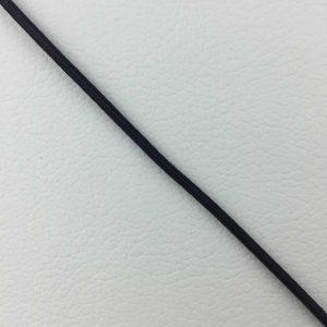 Ruban élastique 2 mm, Noir