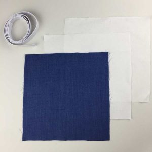 Kit Masque Bleu. 3 couches coton