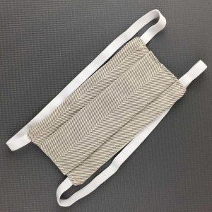 MASQUE à plis. Blanc/gris. Doc AFNOR