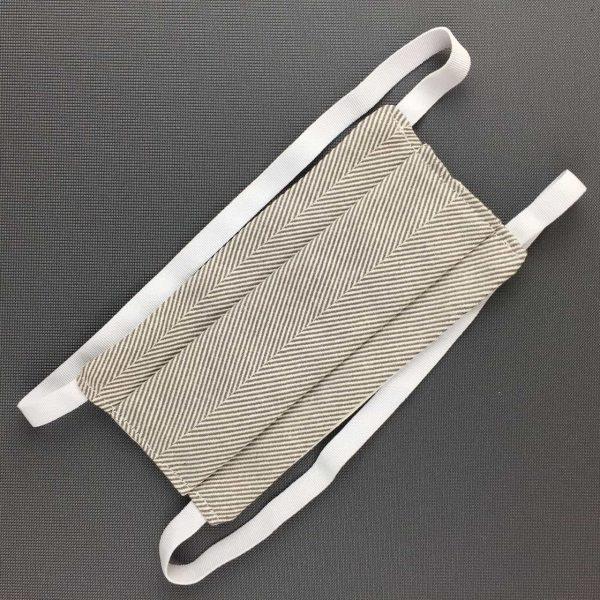 MASQUE à plis COTON Blanc gris