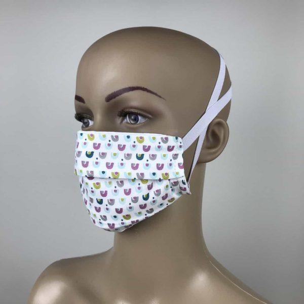 masque coton 3 couche pastel
