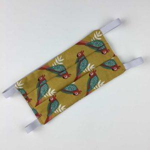 Masque Oiseaux. 2 couches coton