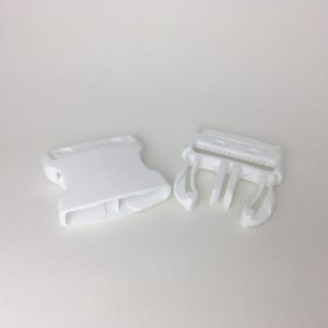 Boucle Clips blanche 40 mm