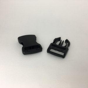 Boucle Clips noir 25 mm