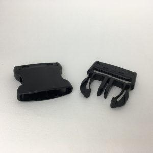 Boucle Clips noir 40 mm