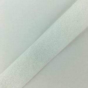 Ruban scratch auto agrippant astrakan 20 mm blanc