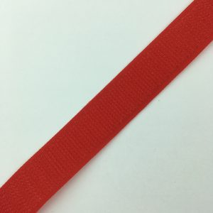 Ruban scratch auto agrippant crochet 20 mm rouge