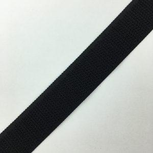 Ruban scratch auto agrippant crochet 20 mm noir