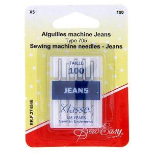 Aiguilles machine Jeans/100 – x5
