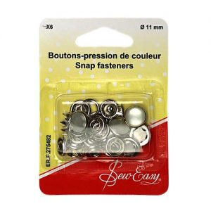 Boutons pression de couleur 11 mm – x6