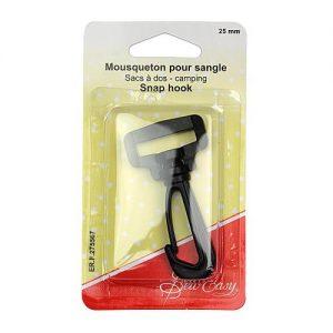 Mousqueton pour sangle sac à dos – 25 mm