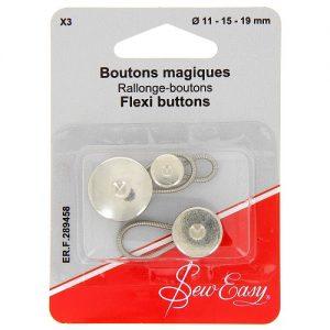 Boutons magiques  X3 Ø 11 – 15 – 19 mm