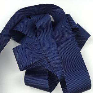 Ruban gros grain 38 mm – bleu foncé