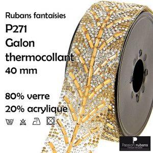 P271.101 Galon thermocollant 40 mm. 80% verre 20% acrylique