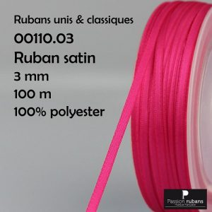 Ruban Satin 3 mm 100% polyester