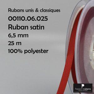 Ruban Satin 6.5 mm