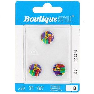 Carte 3 boutons 13 mm code prix B -pos  99