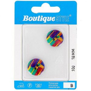 Carte 2 boutons 18 mm code prix B -pos 100