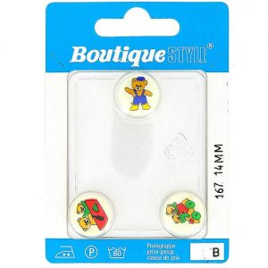 Carte 3 boutons 15 mm code prix B -pos 167