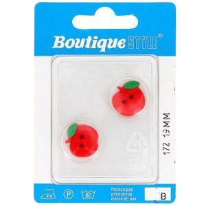 Carte 2 boutons 19 mm code prix B -pos 172