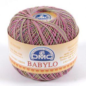 10 pelotes 50 g fil crochet multicolore babylo 266 m