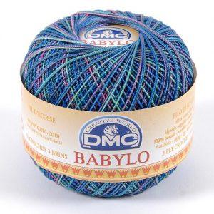 10 pelotes 50 g fil crochet multicolore babylo 366 m