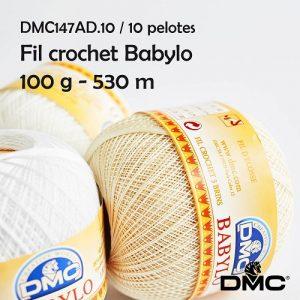 10 pelotes fil crochet 100 g babylo 530 m