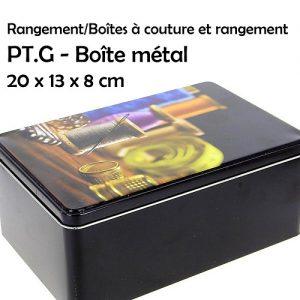 Boite rangement métal grand modèle 20x13x8 cm