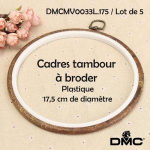 Cadres x5  tambour 17,5