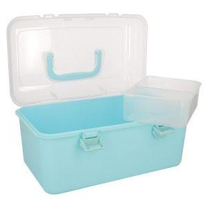 Boîte rangement 26×16 x14 cm col.bleu