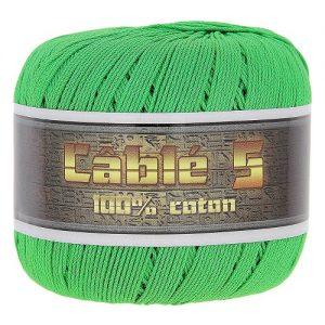 Fil à coudre / Fil à crocheter 6 Pelotes 50 gr cablé n°5 – 100% coton